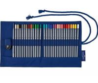 Карандаши цветные Faber-Castell Goldfaber 28 цветов в тканевой пенале 114752