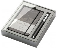 Подарочный набор Faber-Castell 149624 AMBITION RESIN RB BLACK блокнот