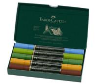 Акварельные двухсторонние маркеры Faber-Castell Albrecht Durer Plein Air, Пленэр 5 цветов, 160309