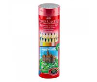 Карандаши цветные Faber-Castell 36 цветов в металлическом тубусе, 115828