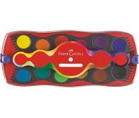 """Акварельные краски Faber-Castell CONNECTOR """"Скрепляй вместе"""" сухие 12 цветов с кроющими белилами, 125030"""