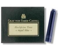 Картриджи для перьевых ручек Graf von Faber-Castell 6 ink cartridges Cobalt Blue, 6 шт. цвет синий, 148716