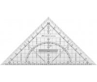 Многофункциональный треугольник с держателем 22 см, Faber-Castell, 171010