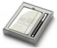 Подарочный набор Faber-Castell 149624 AMBITION RESIN RB BLACK блокнот