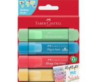 Набор маркеров faber-castell tl 46 pastel 4 пастельных цветов , 254625