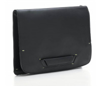 Мужская кожаная сумка-трансформер Bag Folio by Pininfarina с наплечными ремнями черная