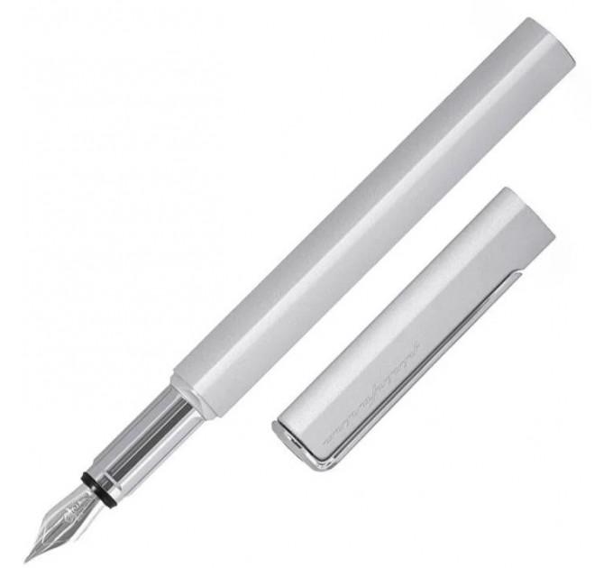 Ручка перьевая Pininfarina PF ONE Fountain Silver, перо М, корпус металлический, цвет серебряный