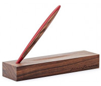 Ручка шариковая Pininfarina Cambiano Ink Red, красный матовый алюминий + грецкий орех