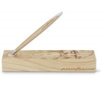 Ручка шариковая Pininfarina Cambiano Ink Leonardo Drawing, алюминиевый + вставка грецкий орех