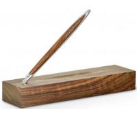 Ручка шариковая Pininfarina Cambiano Ink Silver Luxury Edition, серебро, древесина грецкий орех