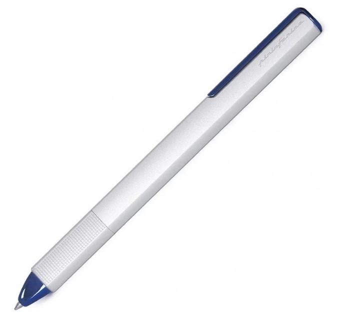 Ручка шариковая Pininfarina PF One Bicolor, корпус металлический, цвет серебряный с голубым