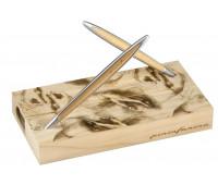 Набор Pininfarina Cambiano Box (Hands), вечный карандаш + ручка + вставка кедр