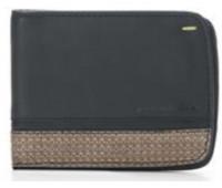 Горизонтальное портмоне на 6 карт Wallet 6 Card Folio by Pininfarina черное с коричневыми вставками