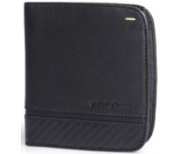 Горизонтальное портмоне на 8 карт Wallet 8 Card Folio by Pininfarina, цвет черный с карбоном