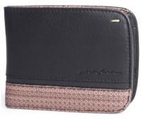 Мужское портмоне Wallet 3 Card and Coins Folio by Pininfarina черное с коричневыми вставками