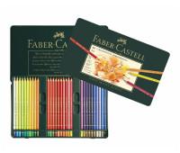Цветные карандаши Faber Polychromos 60 цв металл.коробка 110060