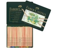 Пастельные карандаши Faber-Castell Pitt 24 цв металл. коробка - 112124