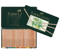 Пастельные карандаши Faber-Castell Pitt 36 цв метал коробка 112136