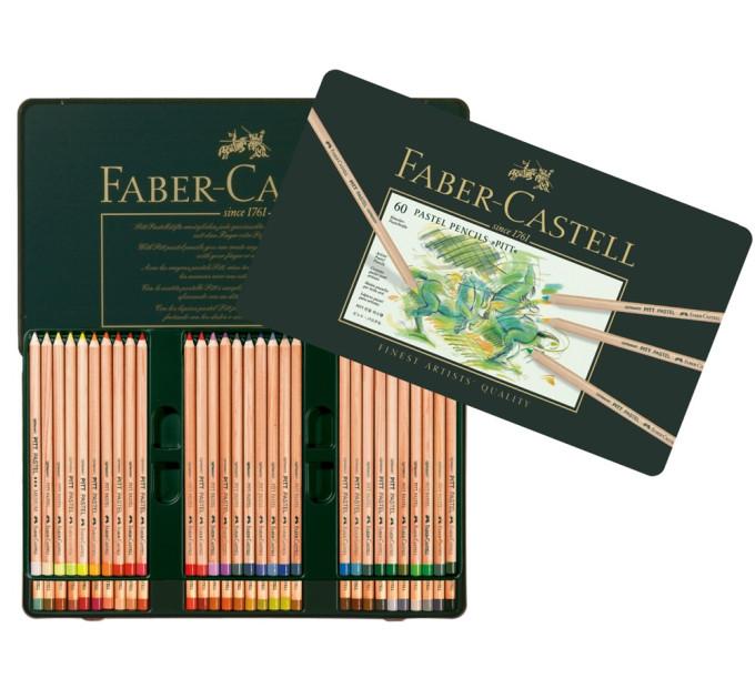 Пастельные карандаши Faber-Castell Pitt 60 цв металл. коробка - 112160