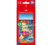 Карандаши акварельные 12 цв картонная коробка - 114413