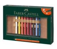 Акварельные карандаши Faber-Castell 116918 Magnus ad 18 цв + кисточка в тканевом рулоне
