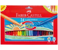 Фломастеры Faber-Castell 24 цвета Fibre tip с пружинящим наконечником 150124