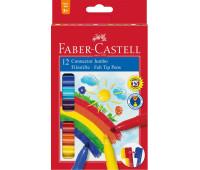 Фломастеры Faber-Castell 12 цв jumbo connector в картонной коробке 155212