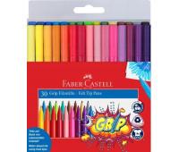 Фломастеры трехгранные Faber-Castell 155335 GRIP 30 цв