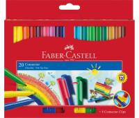 Фломастеры Faber-Castell 20 цв connector в картонной упаковке 155520