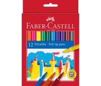 Фломастеры Faber-Castell 12 цв felt tip в картонной упаковке - 554212