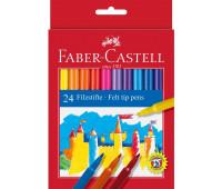 Фломастеры Faber-Castell 24 цв felt tip в картонной упаковке 554224