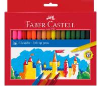 Фломастеры Faber-Castell 554236 36 цветов FELT TIP в картоне