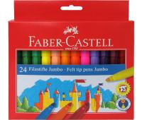 Фломастеры Faber-Castell 24 цв felt tip jumbo в картонной упаковке 554324