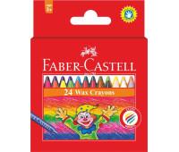 Мел Faber-Castell 24 цв 75 мм воск (4 флуор. цв) - 120057