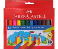Фломастеры Faber-Castell 12 цв felt tip jumbo в картонной упаковке - 554312
