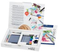 Акварельные карандаши Faber-Castell 114614 Goldfaber 12 цв + аксессуары (18 предметов) картон