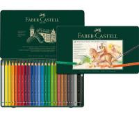 Акварельные карандаши Faber-Castell 116924 Magnus ad 24 цв металл.коробка