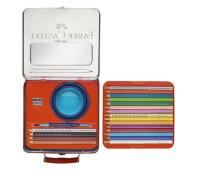 Акварельные карандаши Faber-Castell 201352 Jumbo grip 18 цв металл.чемоданчик+аксессуары+наклейки